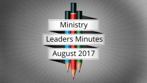 August 2017 Meeting Minutes