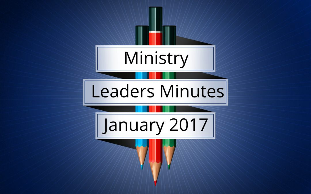 January 2017 Meeting Minutes
