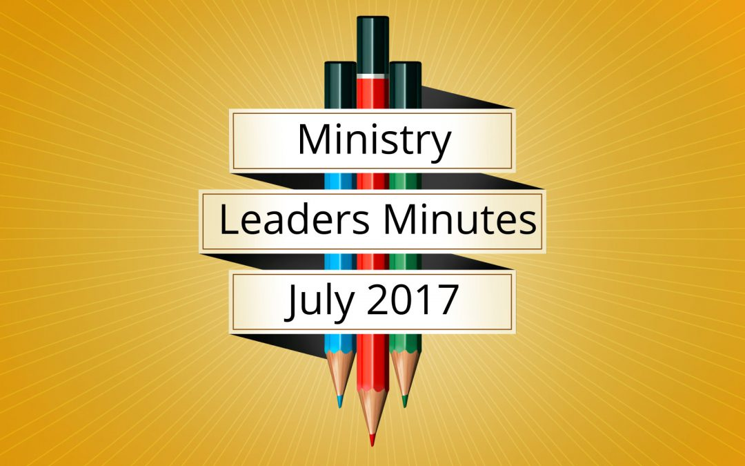July 2017 Meeting Minutes