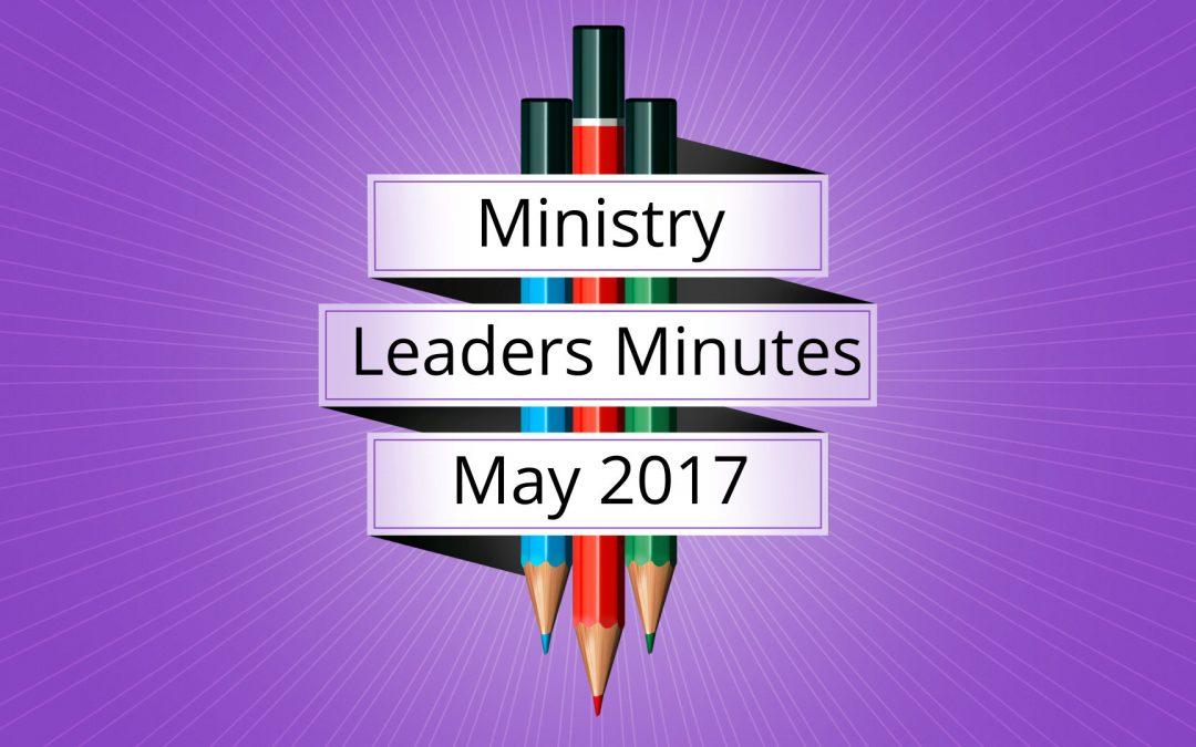 May 2017 Meeting Minutes