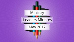 May 2017 Meeting Minutes
