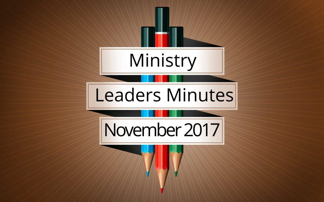 November 2017 Meeting Minutes