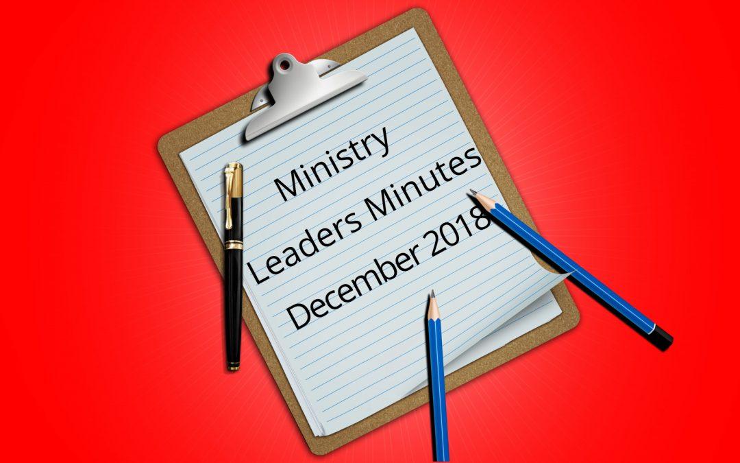 December Minutes 2018