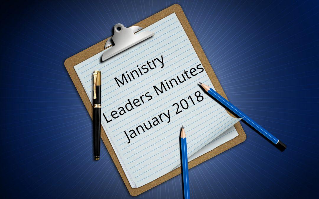 January 2018 Minutes