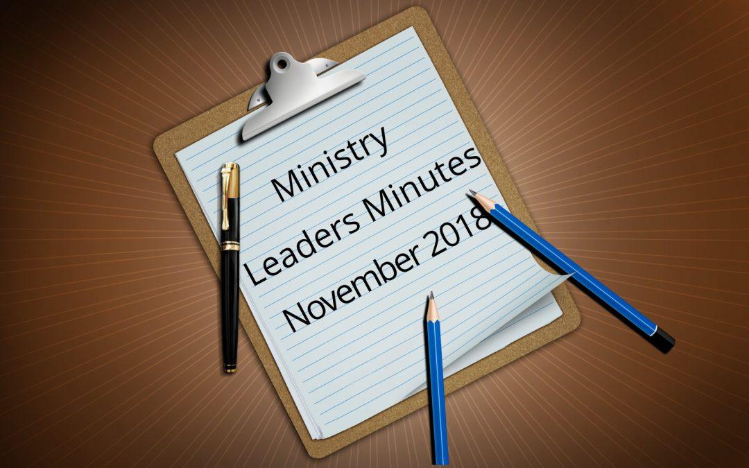 November Minutes 2018