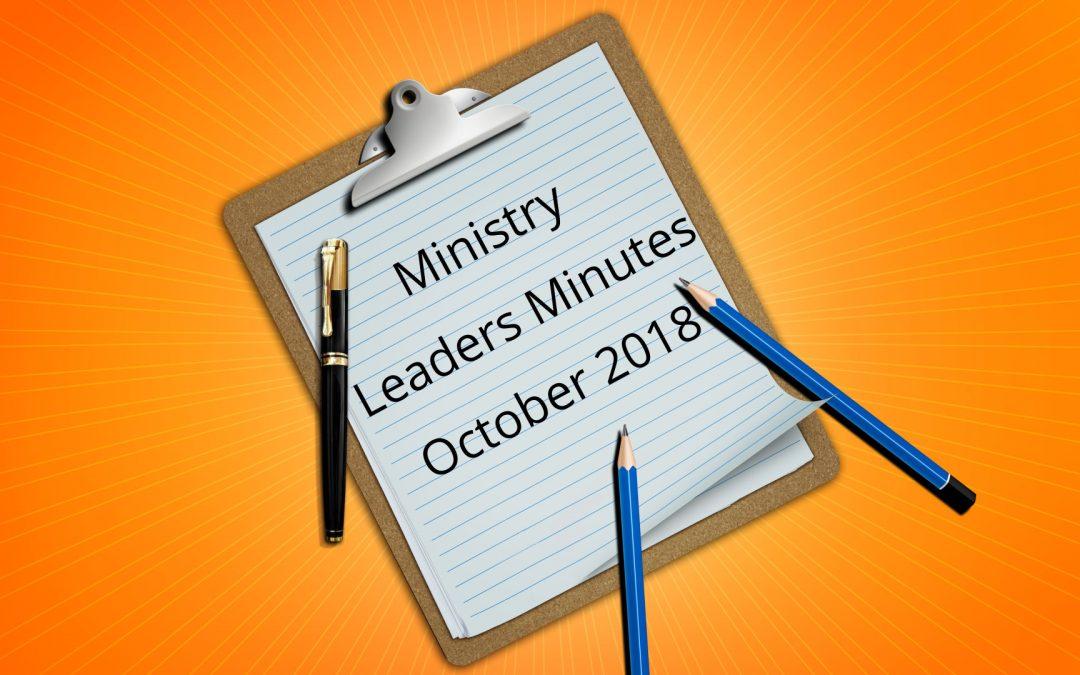 October Minutes 2018