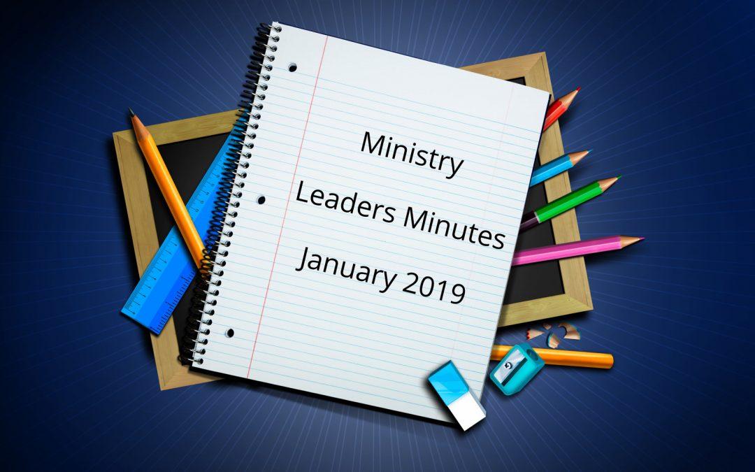 January 2019 Minutes