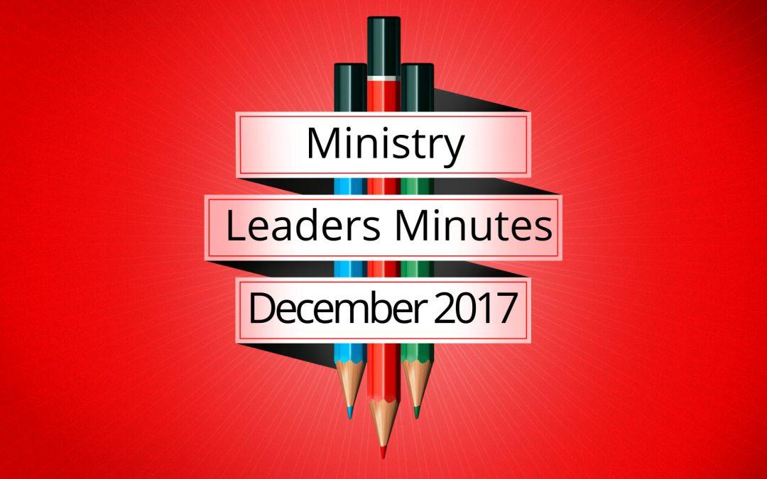 December 2017 Meeting Minutes