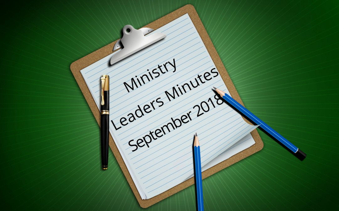 Minutes for September 2018