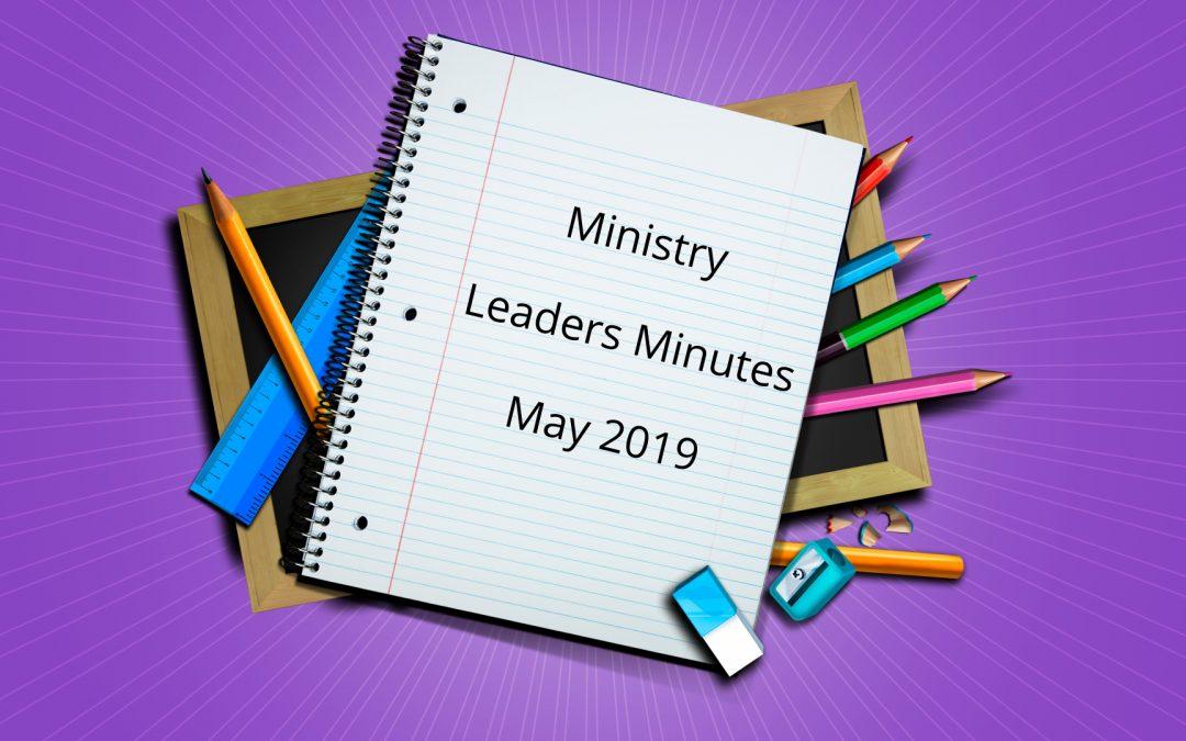 May 2019 Meeting Minutes